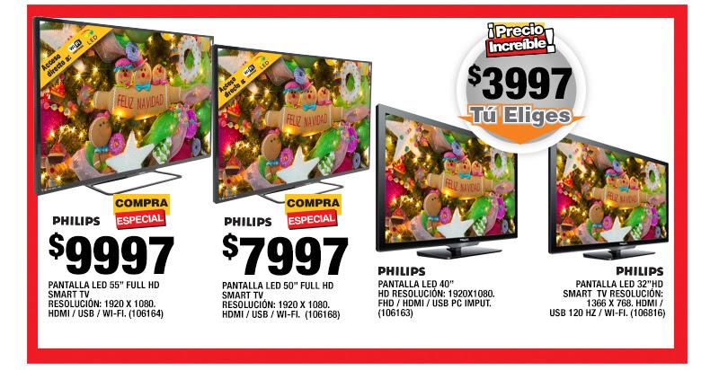 Ofertas del Buen Fin en Home Depot: pantalla Philips LED 40 FHD $3,997
