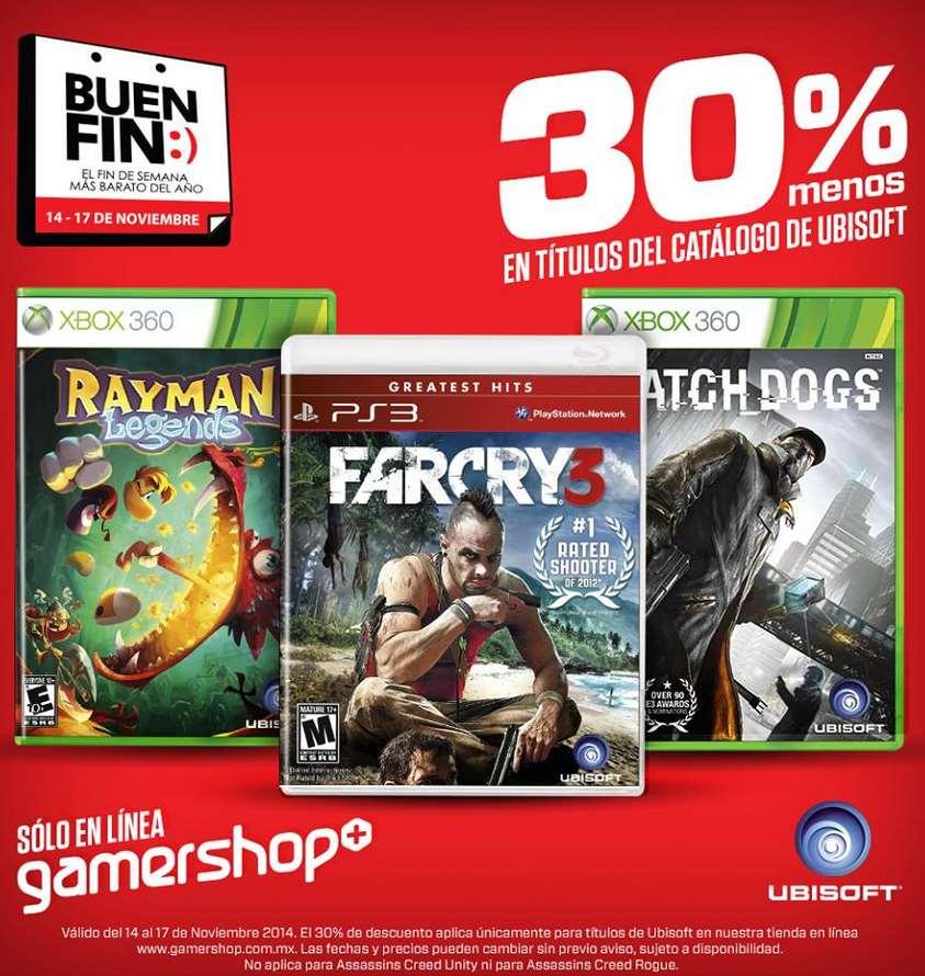 Ofertas del Buen Fin en tienda online de Gamers