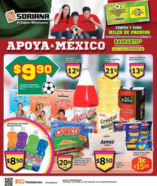 Folleto de ofertas en Soriana del 25 de abril al 10 de mayo