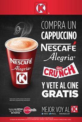 Tienda K: gratis boleto para el Cinépolis comprando un cappuccino