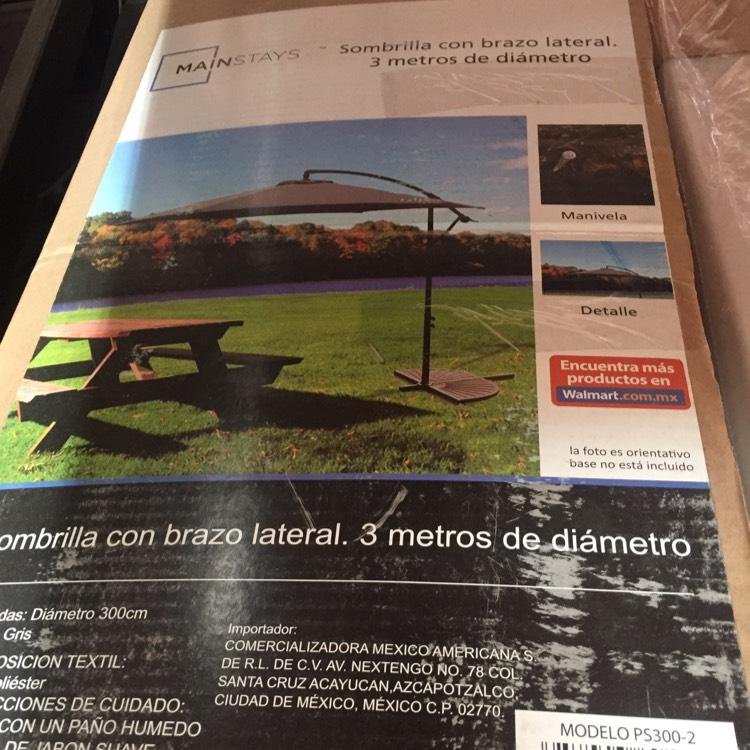 Walmart: Sombrilla para jardín 3 metros De $2990 a $600.03