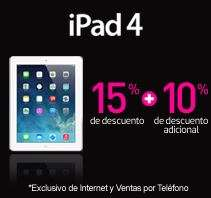 Venta nocturna Liverpool: iPad 4 16GB $5,057, 32GB $5,418, MacBook Pro $15,129