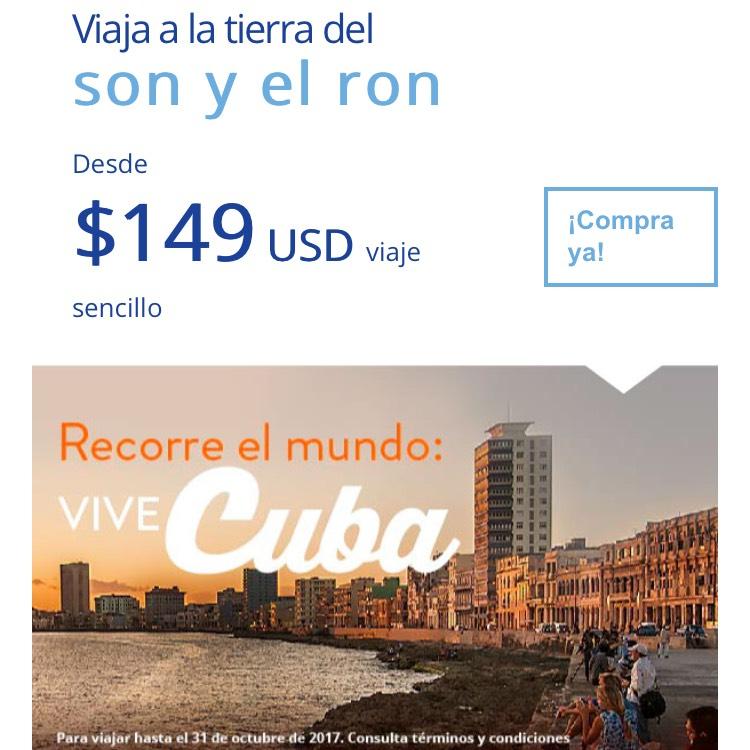 Interjet: Viaje sencillo a Cuba desde CDMX