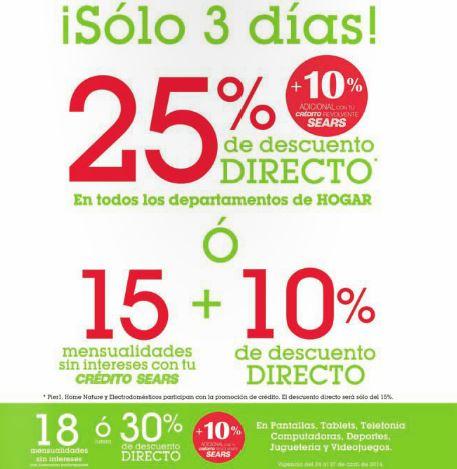 Sears: hasta 50% de descuento + 20% adicional en juguetes, descuento en hogar, tecnología y más