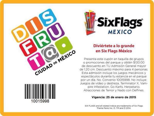 Six Flags: cupón de $130 de descuento por persona