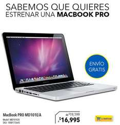 Best Buy y Sears: MacBook Pro MD101E/A $16,995