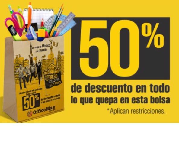 Office Max: hasta 50% de descuento en artículos escolares