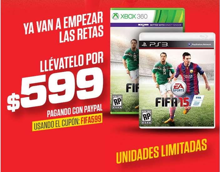 Ofertas del Buen Fin 2014 en Gamers: FIFA 15 $599 y envío gratis