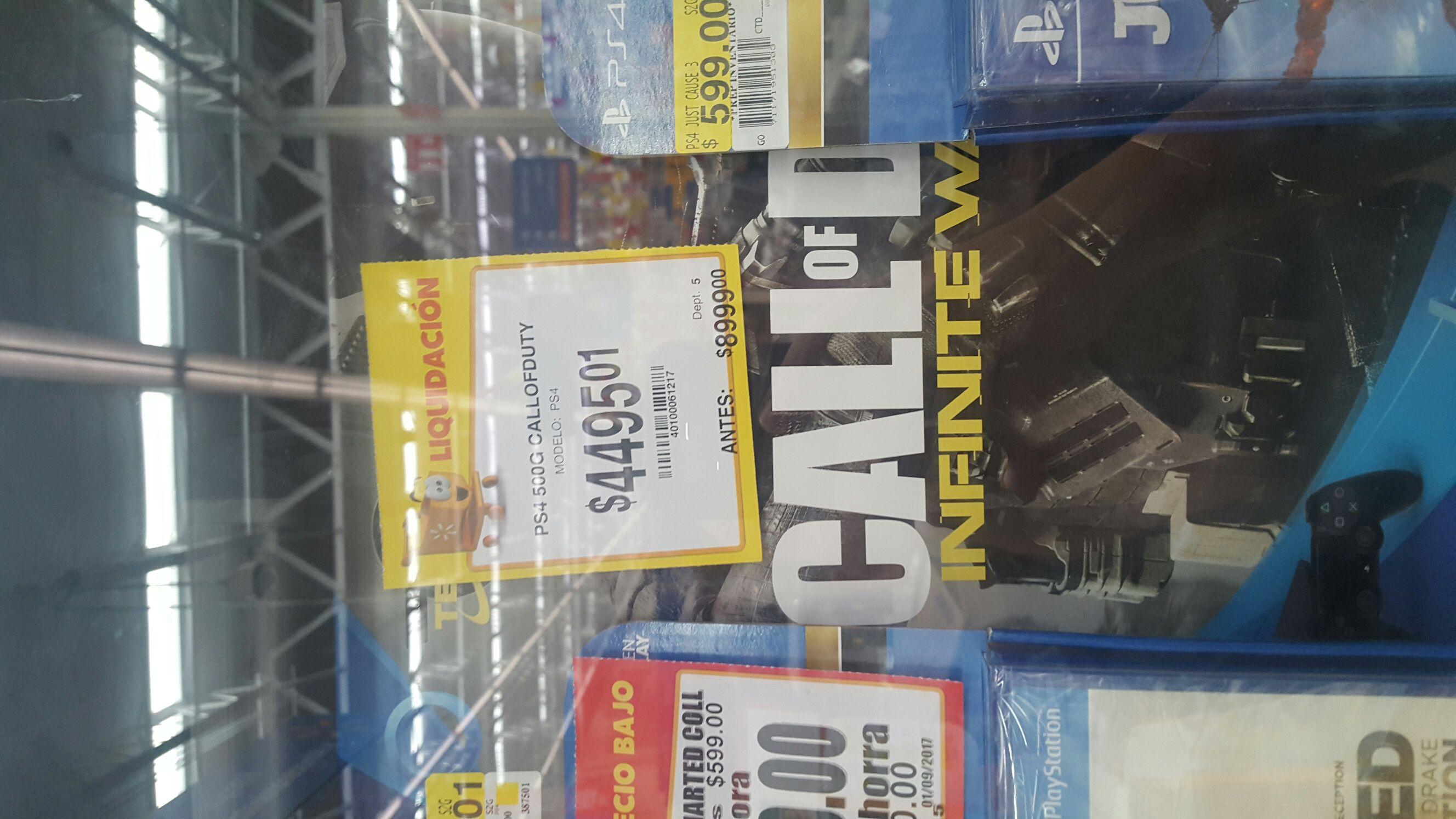 Walmart (MTY): Consola PS4 500GB última liquidación