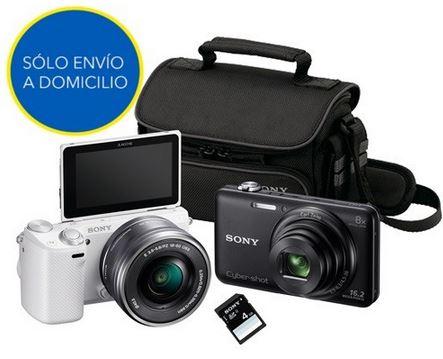 Best Buy: cámaras Sony NEX-5RK + WX60 con estuche y tarjeta de 4GB de $14,999 a $6,590