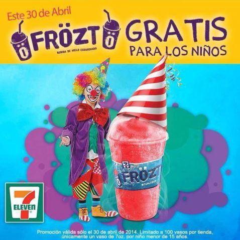 7 Eleven: Frözt gratis para niños el 30 de abril