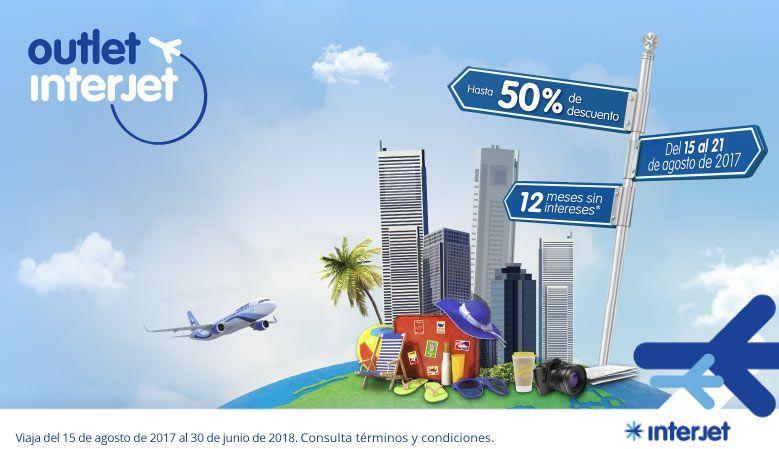 Interjet Outlet: hasta 50% en destinos seleccionados