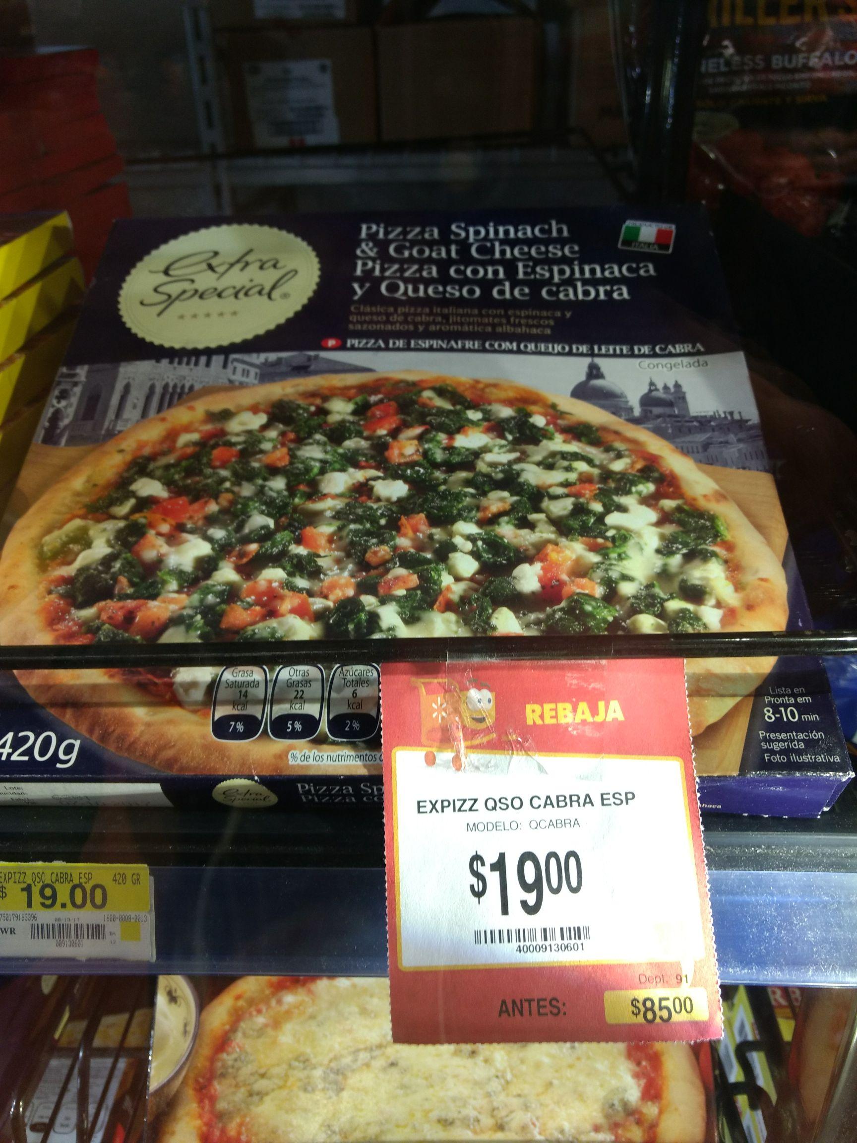 Walmart Universidad: Pizza $19