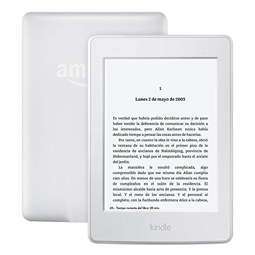 Amazon: Kindle Paperwhite color Blanco, Wi-Fi a $1,999