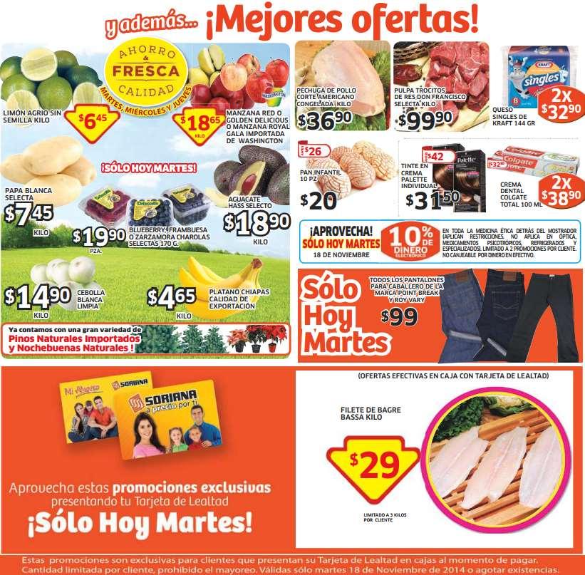 Soriana: file de bagre basa $29 el kilo, pantalones de hombre $99 y más