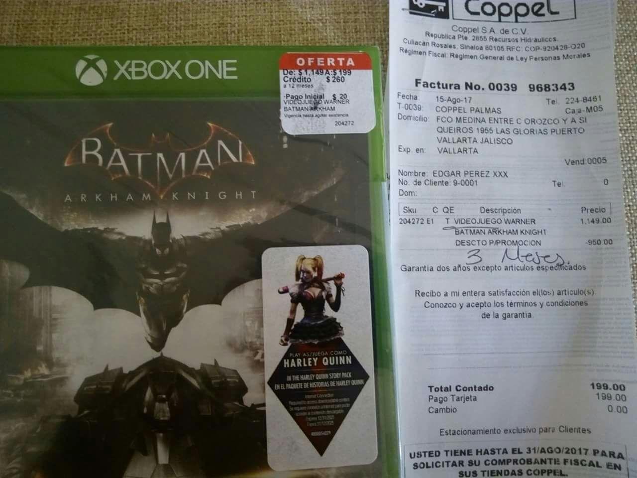 Coppel: Batman arkham knight