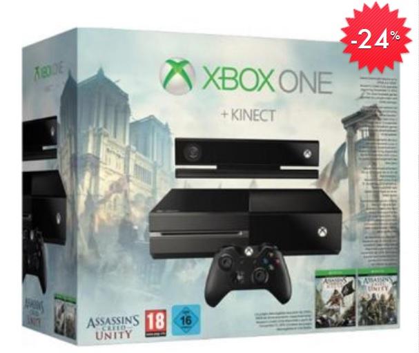 Linio: XBOX ONE 500GB + Assasin's Creed Unity + Assasi's Creed Black Flag $5,511 con Banamex
