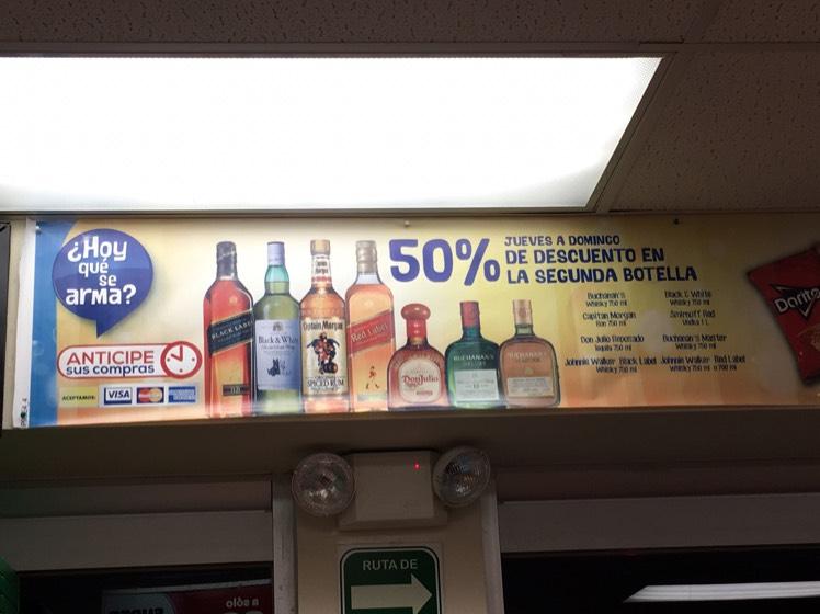 Oxxo: 50% de descuento en la segunda botella de jueves a domingo (botellas seleccionadas)