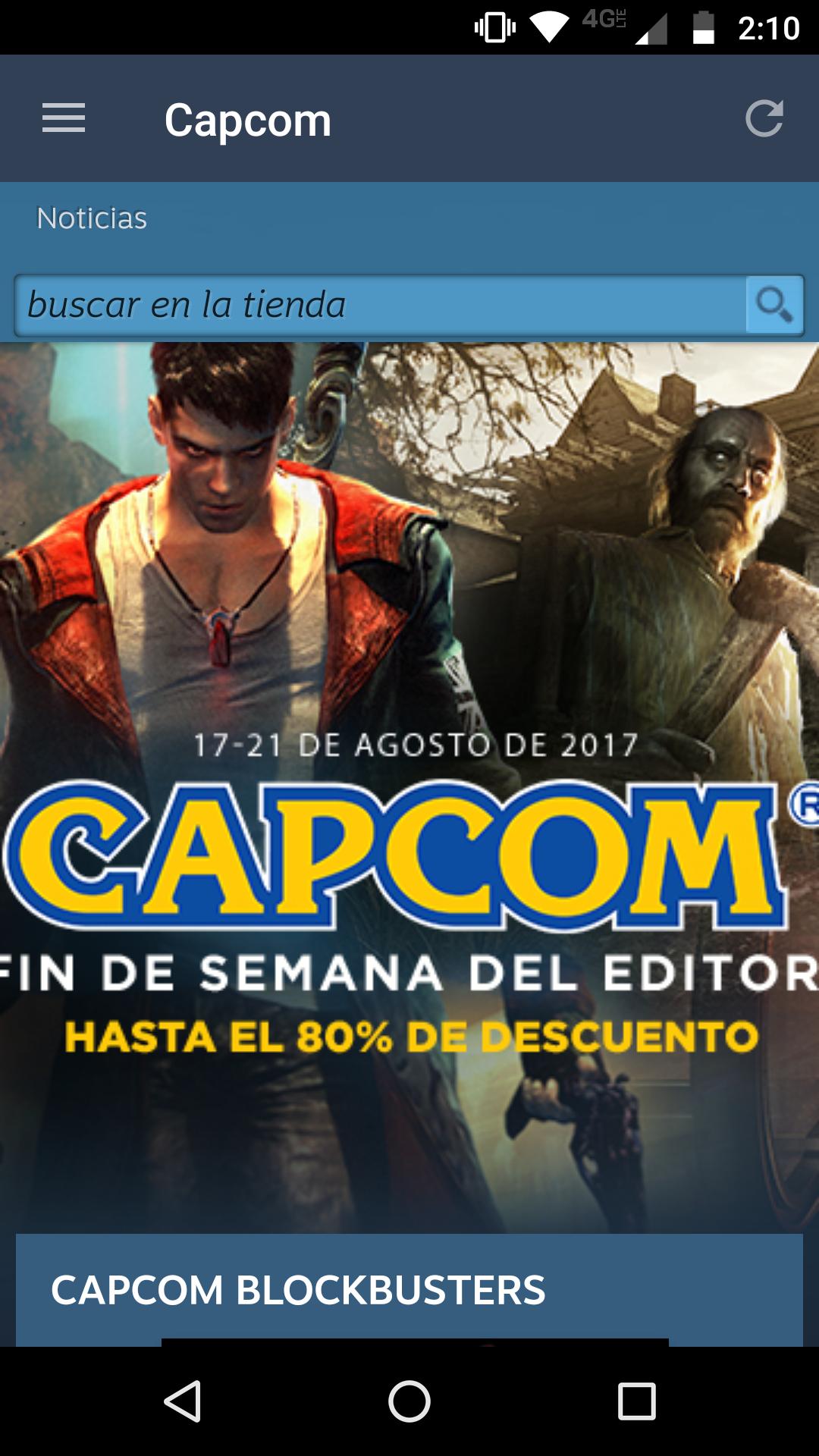Steam: Descuento de hasta el 80% en juegos de Capcom