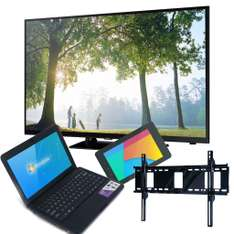 "Famsa: pantalla Samsung LED 40"" Smart TV + Laptop +Tablet + soporte $9,999"