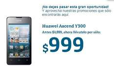 Movistar: celular Huawei Ascend Y300 a $999