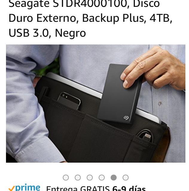 Amazon: Disco duro externo 4TB Seagate USB 3.0 STDR4000100 is Prime