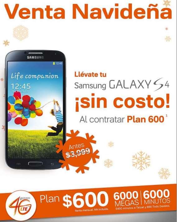 Nextel: Samsung Galaxy S4 gratis en plan 600