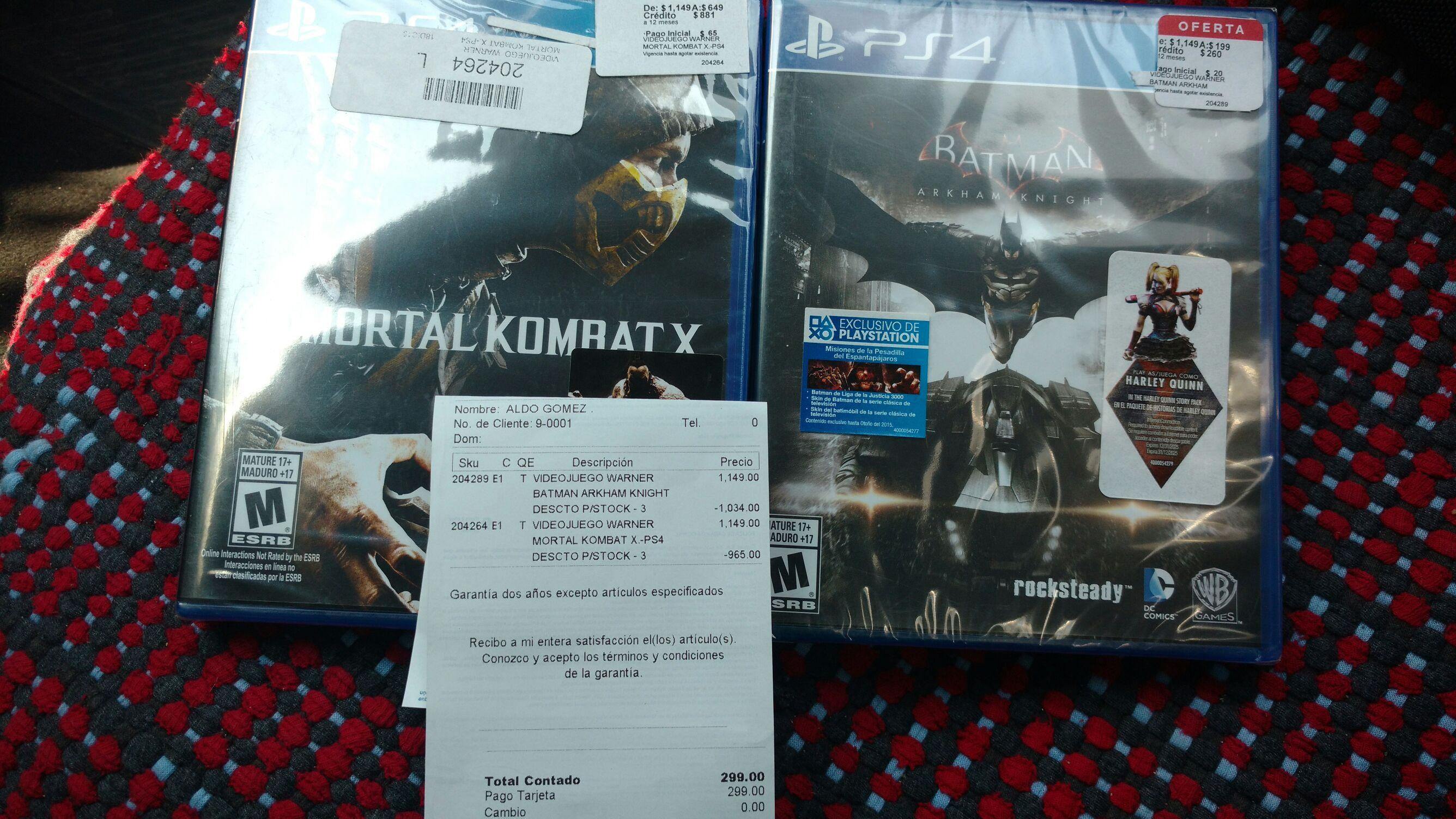 Coppel: Batman Arkham Knight para PS4