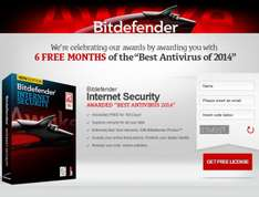 Bitdefender Internet Security gratis por 6 meses