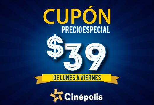 Cuponerapp: Cinépolis sala tradicional desde $39, IMAX $73, VIP desde $91