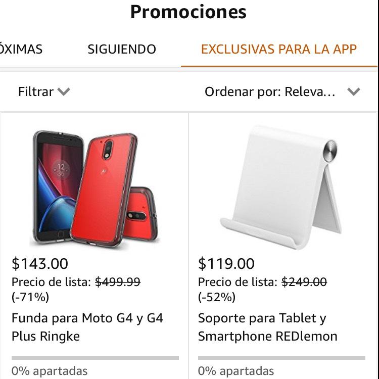 Amazon: Fundas para celular, varios modelos en la APP