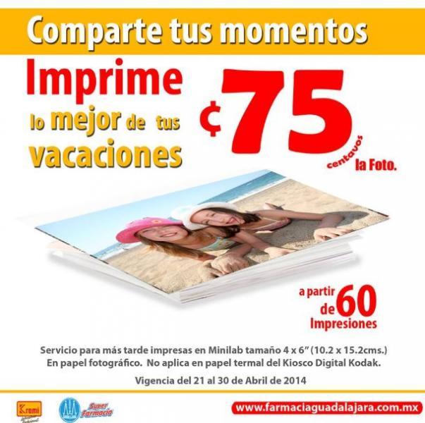 Farmacias Guadalajara: fotos a 75 centavos (mínimo 50)