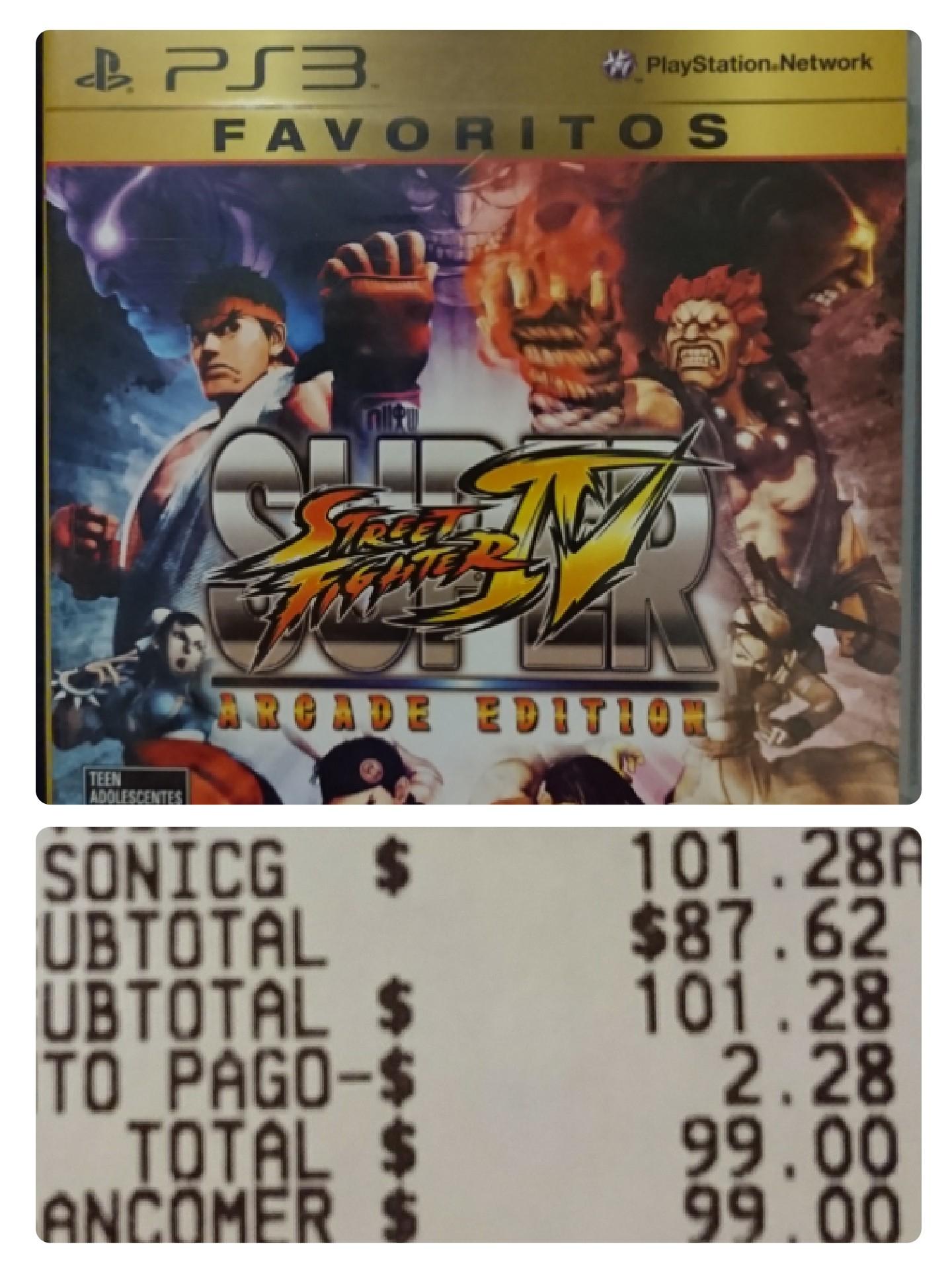 Sam's Club: Super Street Fighter IV Arcade Edition PS3 y más liquidaciones