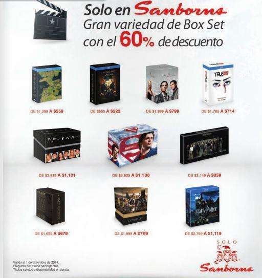 Sanborns: 60% de descuento en box sets seleccionados en DVD y blu-ray