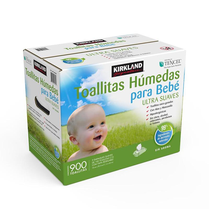 Costco: Kirkland Signature, toallitas húmedas para bebé, incluye 900 piezas