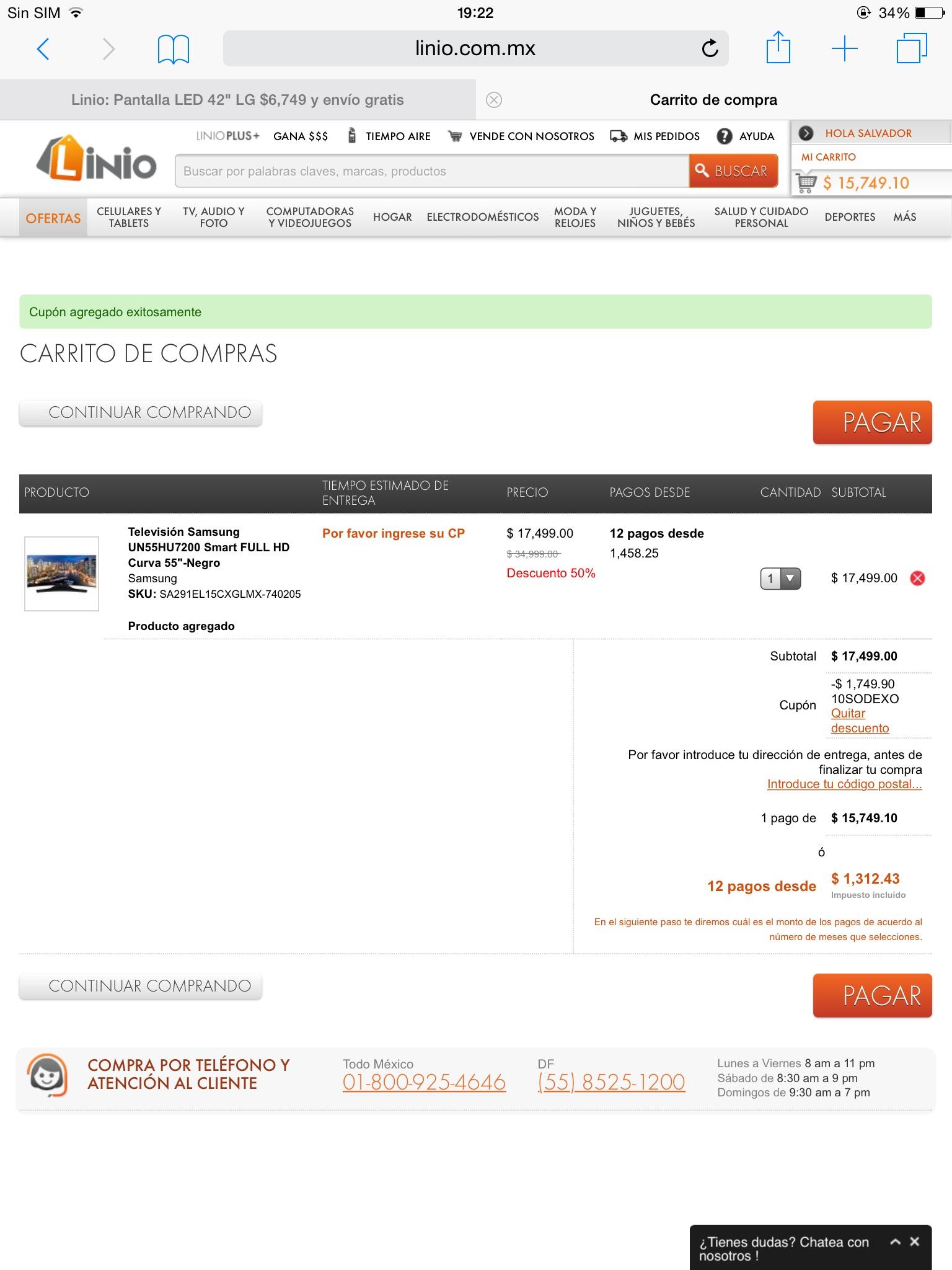 "Linio: Remate Pantalla de 55"" Samsung UN55HU7200FXZX Smart Tv 4K UHD  CMR 960HZ Quad Core"