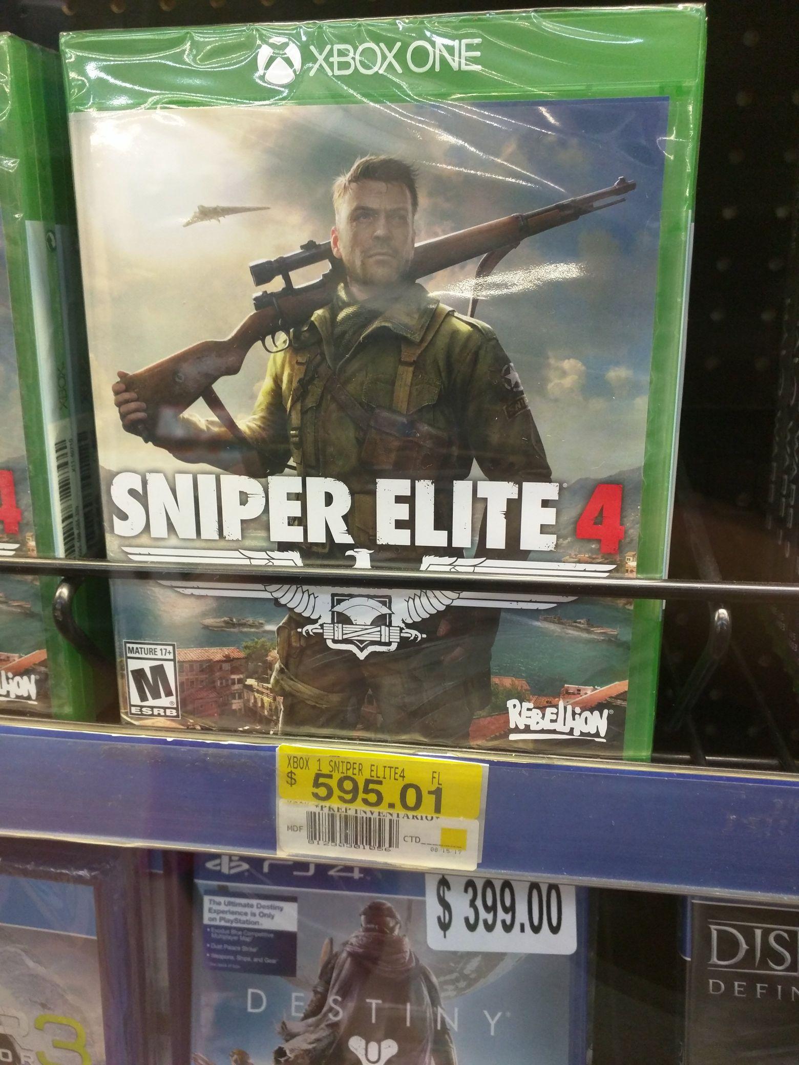 Walmart: Sniper Elite 4 para Xbox One a $595.01