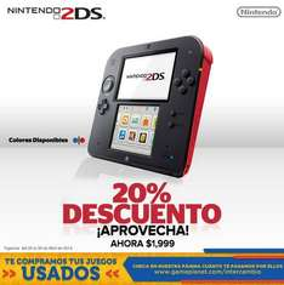 Game Planet: Nintendo 2DS $1,999 y juegos de Nintendo $599