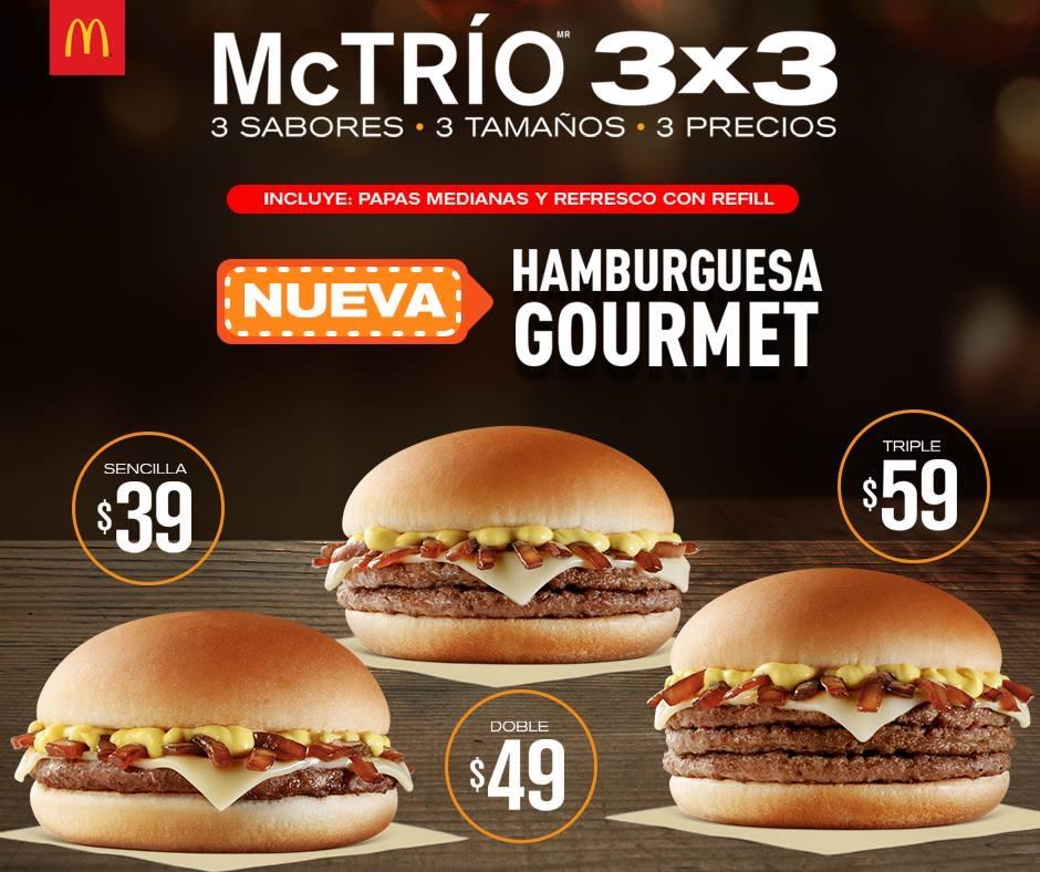 McDonald's: hamburguesas gourmet desde $39 pesos con papas y refresco refill