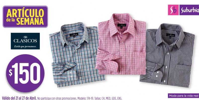 Artículo de la semana Suburbia: camisa de manga larga $150