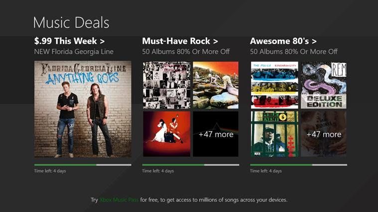Xbox Music App: 100 Álbumes Gratis (se necesita cuenta de USA)