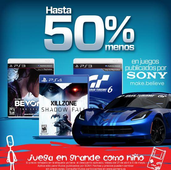 Hasta 50% de descuento en juegos de Sony para PS Vita, PS3 y PS4