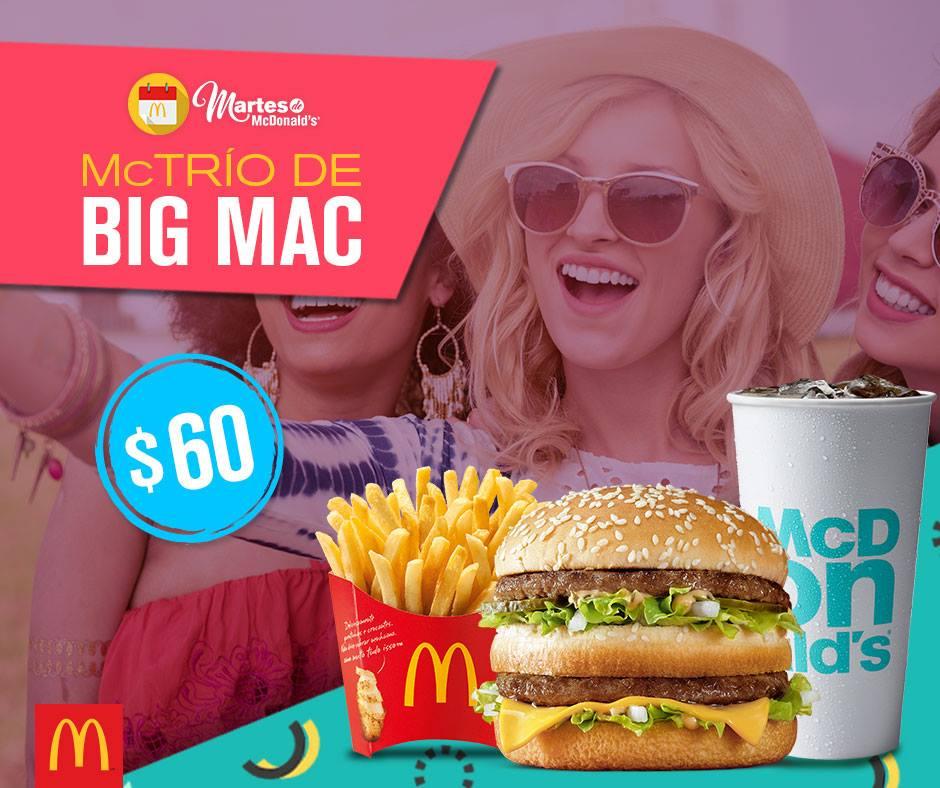 McDonald's: Cupón Martes de McDonald's Mctrio Big Mac por $60