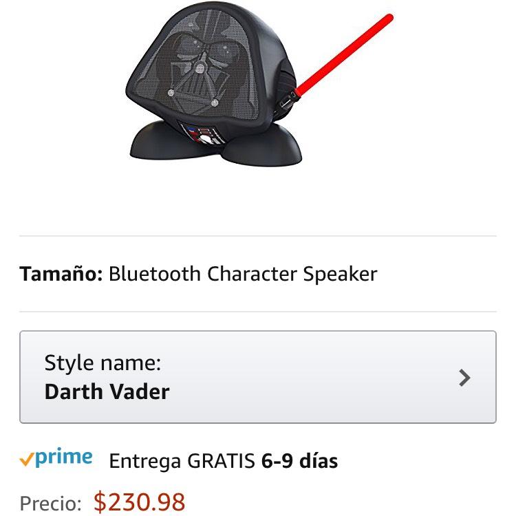 Amazon: bocina darth vader (incluye Prime)