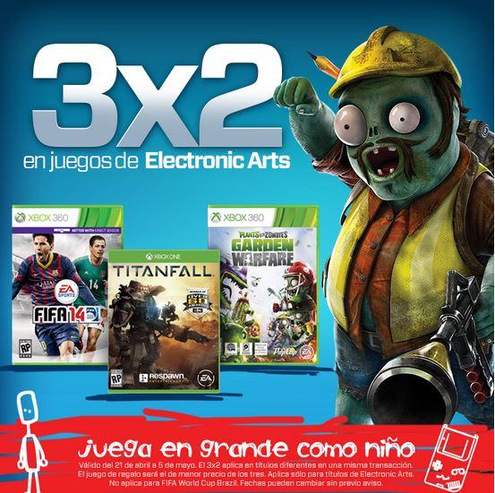 Gamers: 3x2 en juegos de Electronic Arts, Activision y Ubisoft