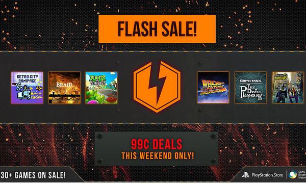 PlayStation Store: venta relámpago con 30 juegos a 1 dólar cada uno
