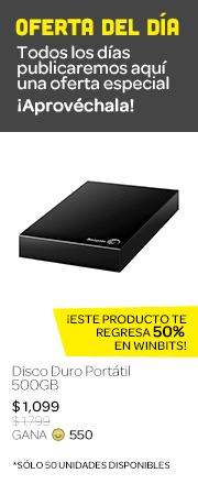 Disco duro portátil de 500GB