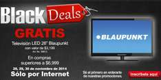 "Black Friday en Office Depot:  pantalla LED 26"" gratis con compra mínima"