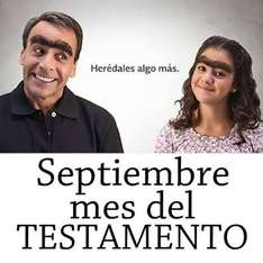 Septiembre mes del testamento. Testamento al 50%!! Llévelo, llevelo