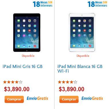 Walmart: iPad Mini $3,740 (en Apple Store $4,699)